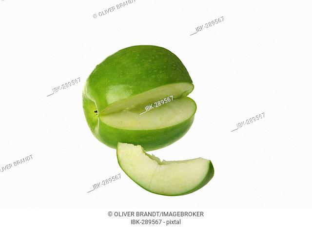 Apple, Granny Smith, cut out