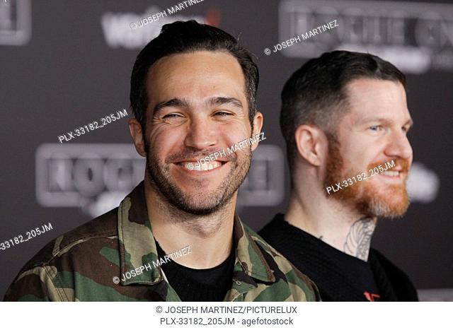 """Pete Wentz, Andy Hurley at the world premiere of """"""""Rogue One: A Star Wars Story"""""""" held at the Pantages Theatre in Hollywood, CA, December 10, 2016"""