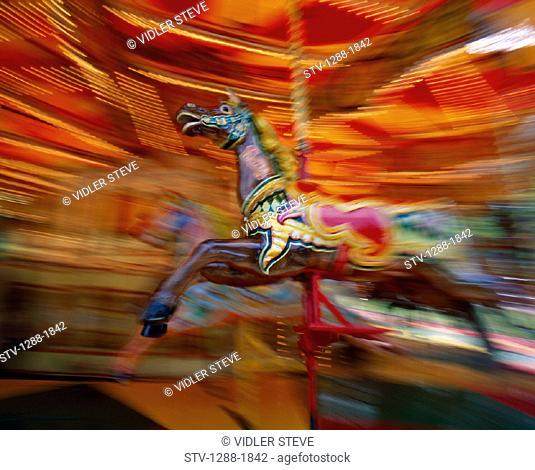 Amusement, Blackpool, Carnival, Carousel, England, United Kingdom, Great Britain, Entertainment, Fair, Fast, Holiday, Landmark