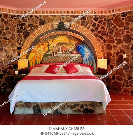 America, Mexico, Jalisco state, Tequila city, The Cofradía hotel, a typical room