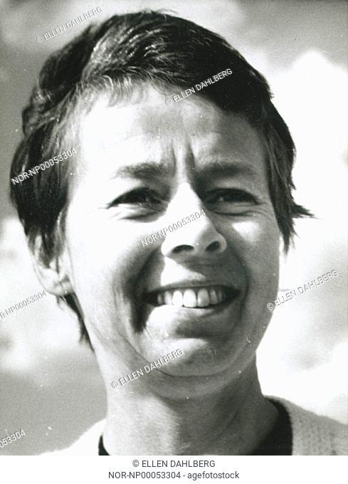 Close-up face of Lis Asklund