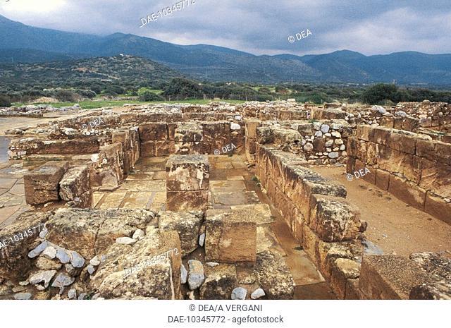 Greece - Crete - Mallia. Palace. Minoan civilization (ca. 1750-1550 b.C.)