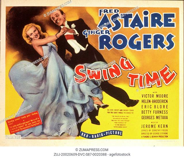 1936, Film Title: SWING TIME, Director: GEORGE STEVENS, Studio: RKO, Pictured: FRED ASTAIRE, GINGER ROGERS. (Credit Image: SNAP/ZUMAPRESS.com)