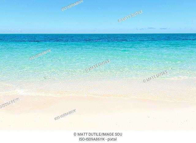 Empty beach, Grace Bay, Providenciales, Turks and Caicos, Caribbean