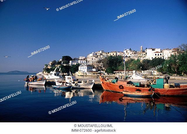 Sporades, Skiathos Skiathos town, fishing boats
