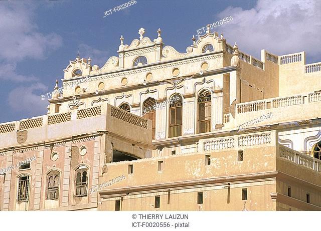 Yemen, Tarim, baroque style Javanese palace