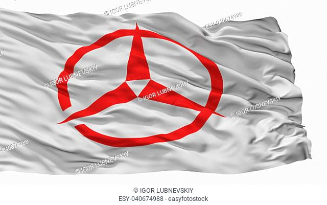 Kashiwara City Flag, Country Japan, Osaka Prefecture, Isolated On White Background, 3D Rendering