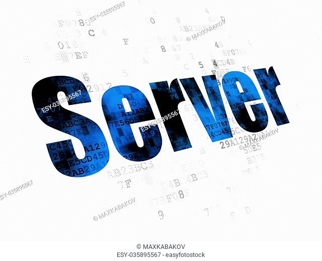 Web design concept: Server on Digital background