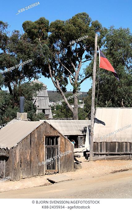 Sovereign Hill, an open-air museum depicting life in Ballarat during the goldrush. Victoria, Australia