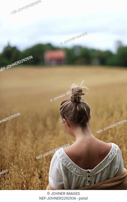 Teenage girl on field