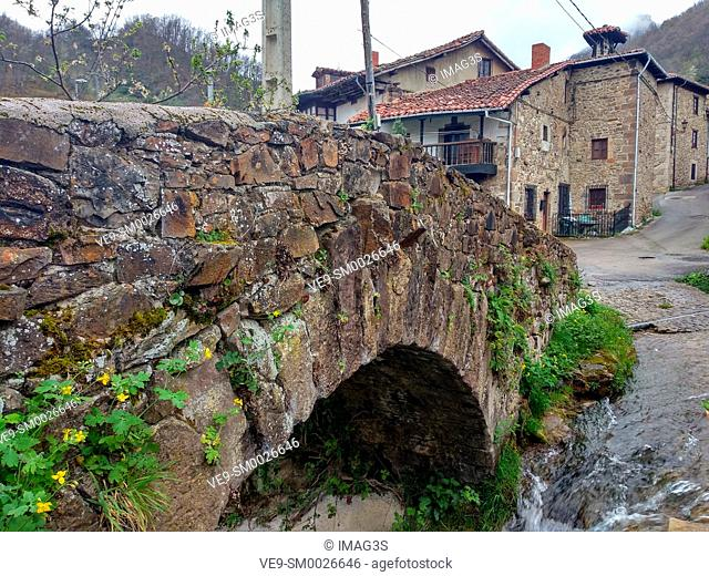 Espinama village, Liébana valley, East massif of Picos de Europa National Park and Biosphere Reserve, Cantabria province, Spain