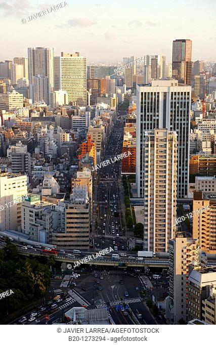 Minato-ku, City view from Tokyo Tower, Tokyo, Japan