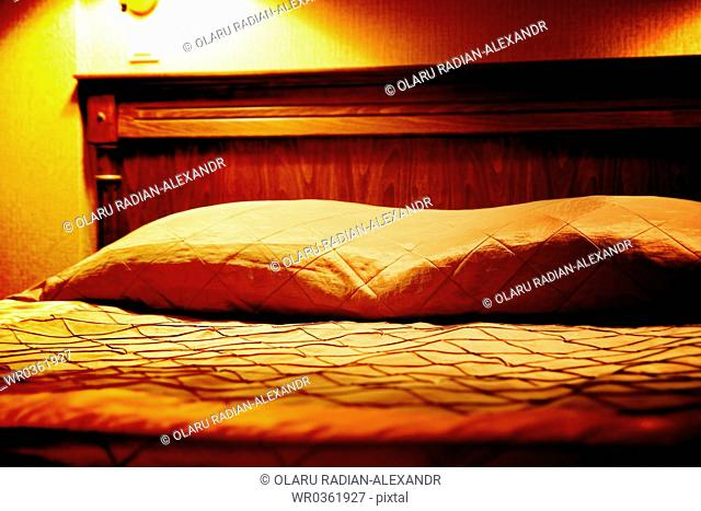 Huge bed in a hotel room