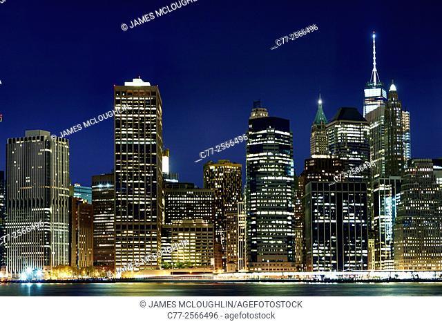 New York City, Manhattan, Skyline, Freedom Tower, downtown