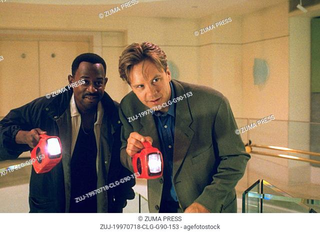 Jul 18, 1997; Los Angeles, CA, USA; Actor/comedian MARTIN LAWRENCE stars as Terrance Paul Davidson and actor TIM ROBBINS stars as Nick Beams in the Touchstone...