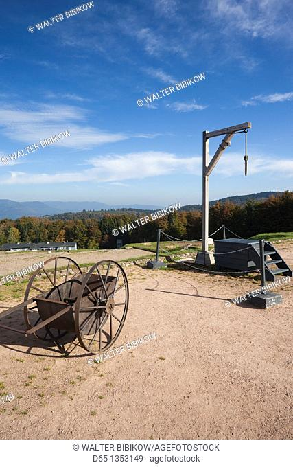 France, Bas-Rhin, Alsace Region, Natzwiller, Le Struthof former Nazi Concentration Camp, only Nazi-run camp on French territory in World War Two, gallows