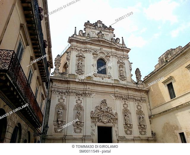 Lecce, Italy, Church of Carmine, Facade