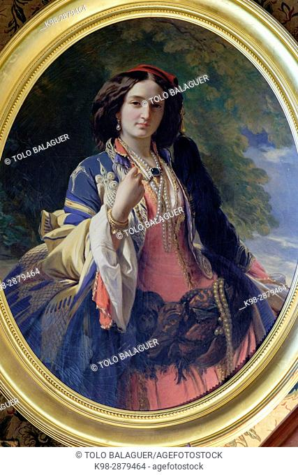 Catherine Branicki in Turkish dress, Francisco Xavier Winterhalter, Count Branicki 's castle, Montrésor, Indre-et-Loire department. France
