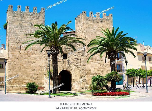 Spain, View of Porta del Moll at Alcudia