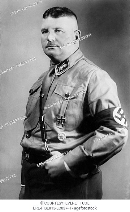 Ernst Roehm 1887-1934, was a German army officer and founder of the Nazi Stormtroopers, the Nazi Party militia. In 1934, he was among the 85 purged and executed...