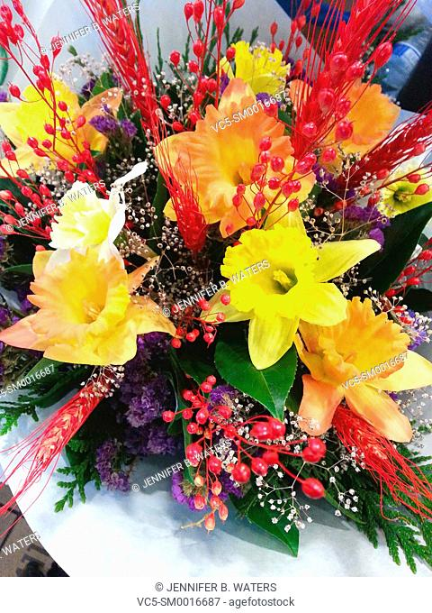 Flowers for sale at Pike Place public market in Seattle, Washington, USA