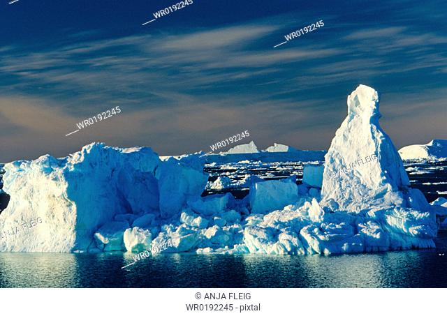 Iceberg formations while traveling in the Weddell Sea Devil Island, Weddell Sea, Antarctica
