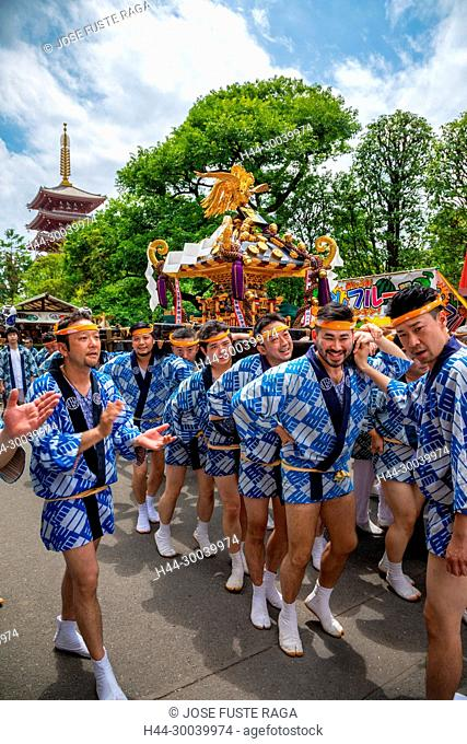Japan, Tokyo City, Asakusa District Festival, mikoshi shrine