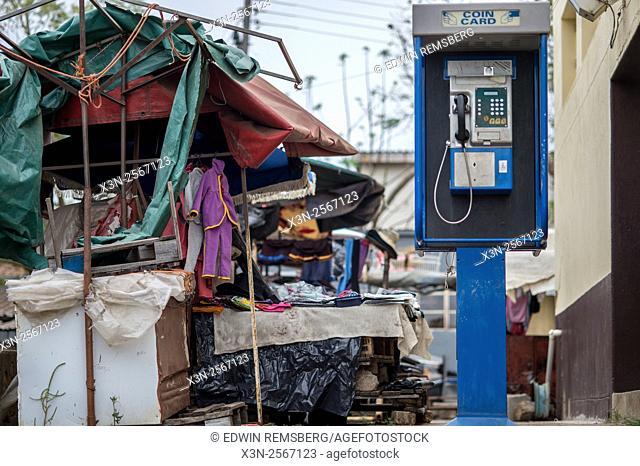 Payphone at the Manzini Wholesale Produce and Craft Market in Swaziland, Africa