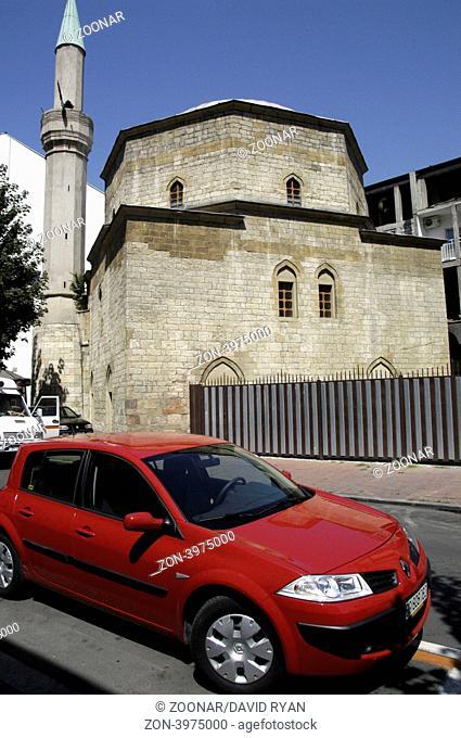 Serbia, Belgrade, Bajrakli Mosque (Renault Clio in foreground)