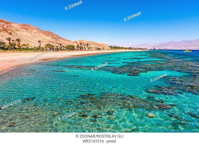Beautiful shoreline in Eilat, Israel