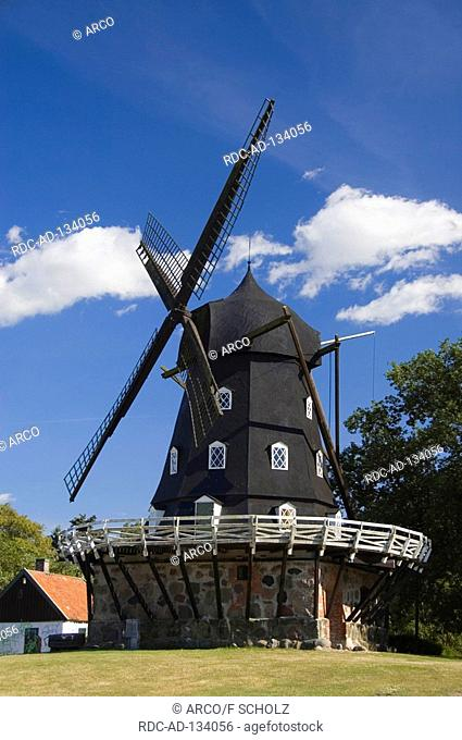 Windmill build 1851 Malmo Skane Sweden Slottsmollan Slottsmöllan dutch mill Malmö