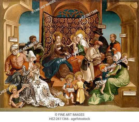 The Holy Kinship. Artist: Breu, Jörg, the Younger (1510-1547)