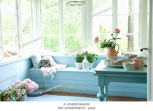 Sunshine on a veranda, Sweden