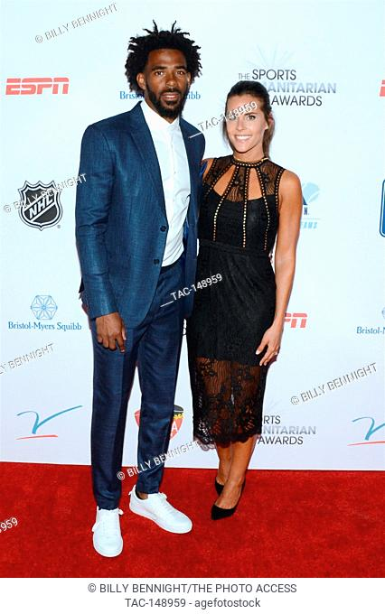 Mike Conley Jr. and Mary Peluso attends the 3rd Annual Sports Humanitarian of the Year Awards at LA LIVE'S The Novo in Los Angeles on July 11, 2017