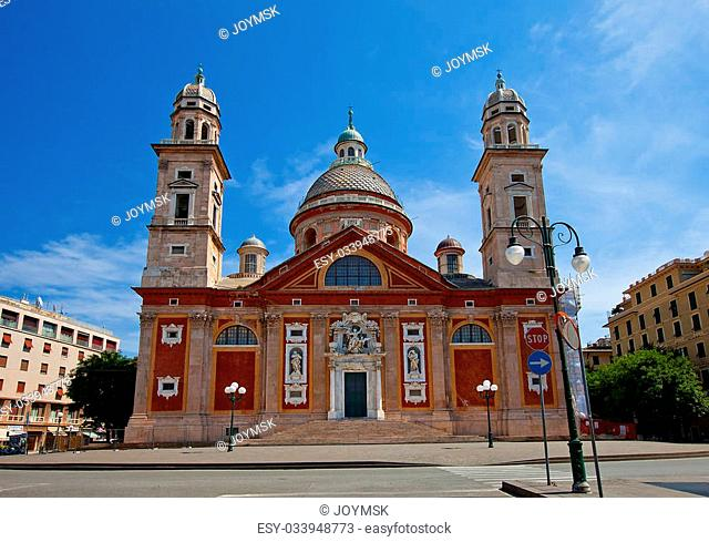 Church of Santa Maria Assunta (circa XVI c.). Architect Galeazzo Alessi. Carignano, Genoa, Italy
