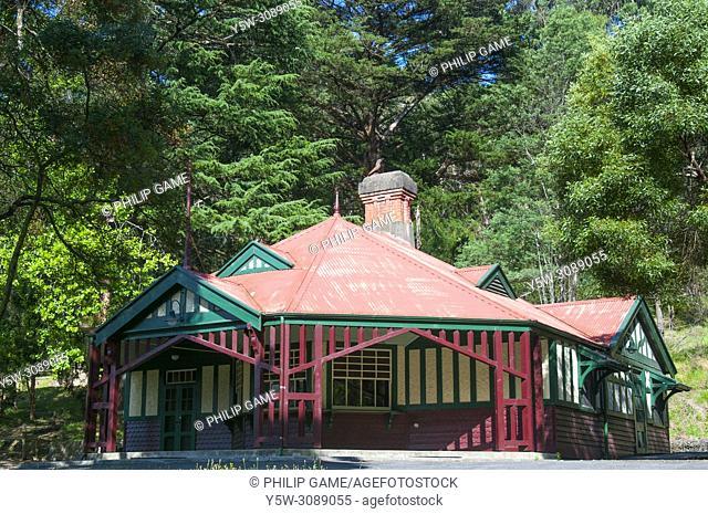 Early 20th century park headquarters building at the Dandenong Ranges National Park at Sassafras, Melbourne, Victoria, Australia