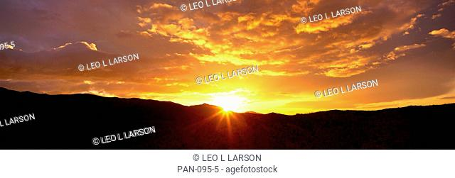 Sunrise, Santa Rosa Mountains, Anza-Borrego Desert State Park, California, USA