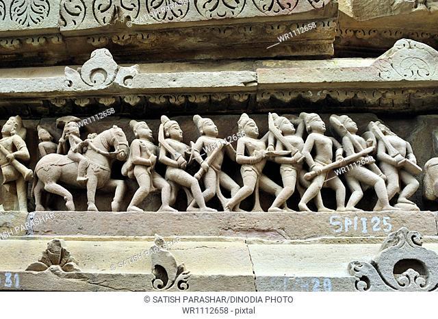 Battle on lakshmana temple Khajuraho madhya pradesh India
