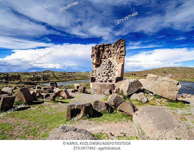 Chullpa in Sillustani, Puno Region, Peru