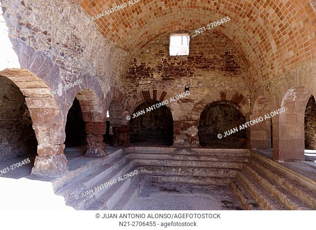 Ancient Roman thermal baths. Caldes de Montbui, Barcelona, Catalonia, Spain, Europe