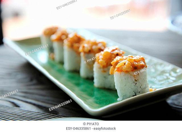 Japanese food maki sushi