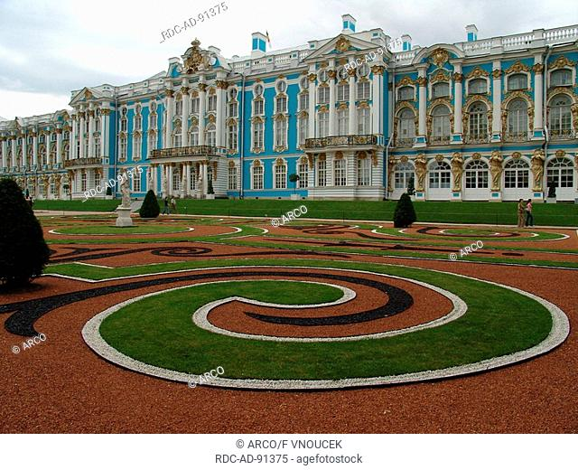 Catherine Palace with park Pushkin Russia