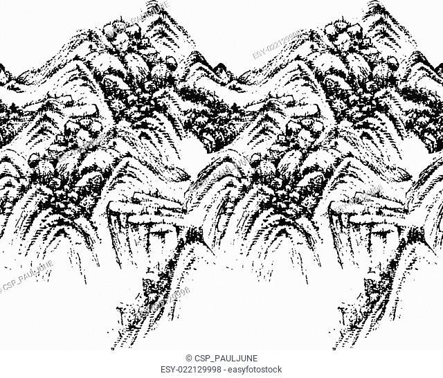 seamless mountain pattern