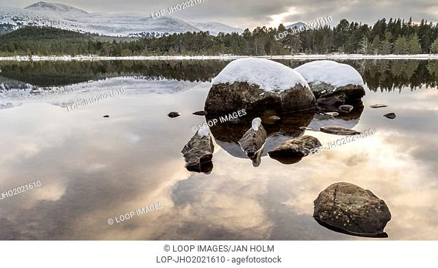 Loch Morlich and the Cairngorms in Scotland