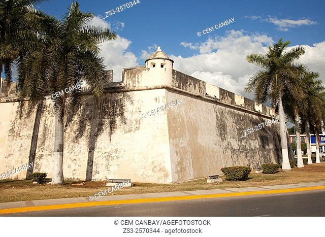 Baluerte de Sn. Pedro, historic fort at the center of Campeche, Campeche, Yucatan, Mexico, Central America
