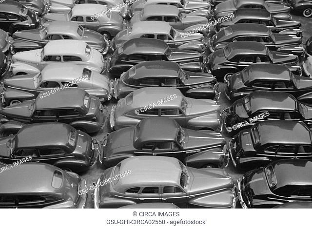 Parking Lot, Chicago, Illinois, USA, John Vachon for Farm Security Administration, July 1941