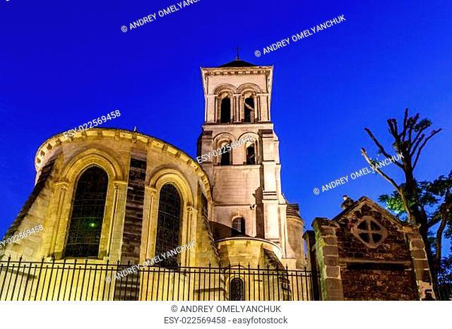 Saint Peter Church on Montmartre Hill at Dusk, Paris, France