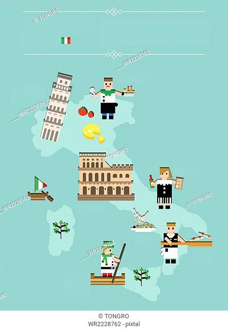 Global landmarks in Italy