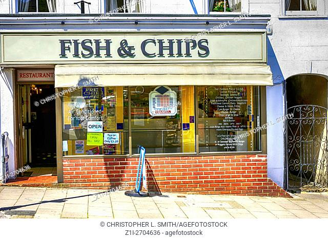 Fish and Chip shop in Lymington High Street Hampshire