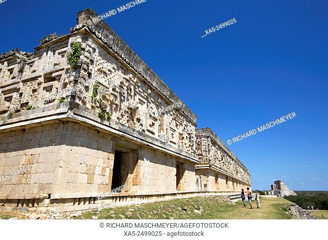 Palace of the Govenor, Uxmal Mayan Archaeological site, Yucatan, Mexico